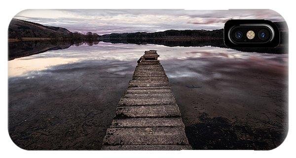 Loch Ard iPhone Case - The Aproach Of Night by John Farnan
