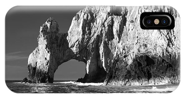 The Arch Cabo San Lucas In Black And White IPhone Case