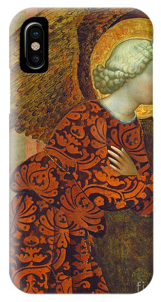 Angels iPhone Case - The Archangel Gabriel by Tommaso Masolino da Panicale