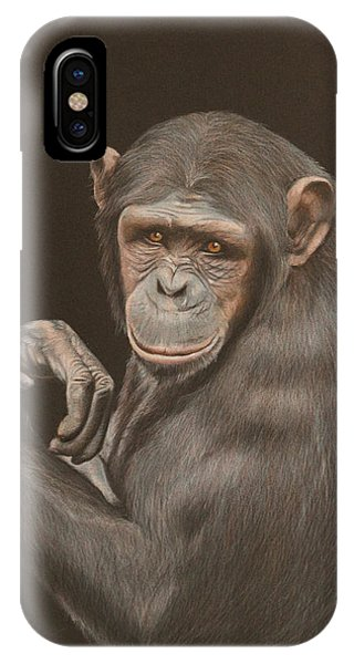 iPhone Case - The Arm Wrestler - Chimpanzee by Jill Parry