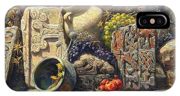 The Armenian Still Life With Cross  Stone Khachkar Phone Case by Meruzhan Khachatryan