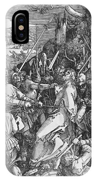 Albrecht Durer iPhone Case - The Arrest Of Jesus Christ by Albrecht Durer or Duerer