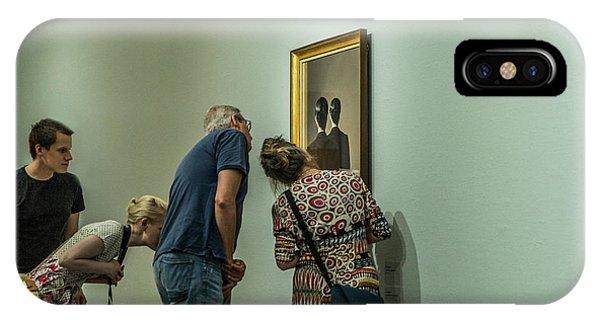 The Art Of Enjoying Art Phone Case by Susanne Stoop