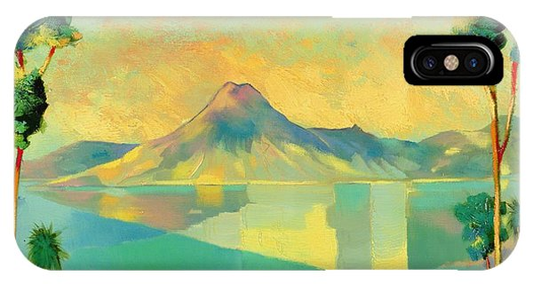 Yellow iPhone Case - The Art Of Long Distance Breathing by Andrew Hewkin