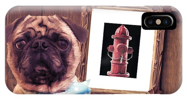 Pug iPhone X Case - The Artist And His Masterpiece by Edward Fielding
