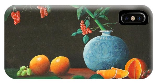 The Asian Vase And Oranges IPhone Case