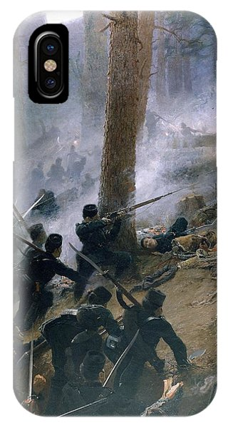 British Empire iPhone Case - The Attack On The Peiwar Kotal by Vereker Monteith Hamilton