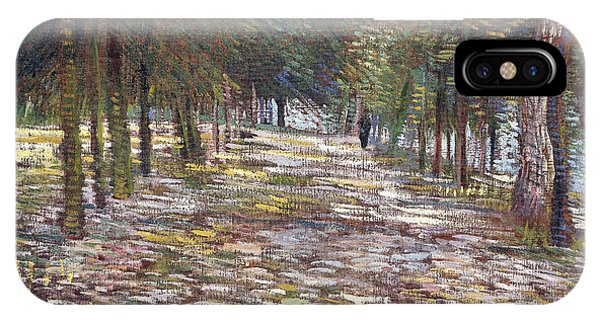 1880s iPhone Case - The Avenue At The Park by Vincent Van Gogh