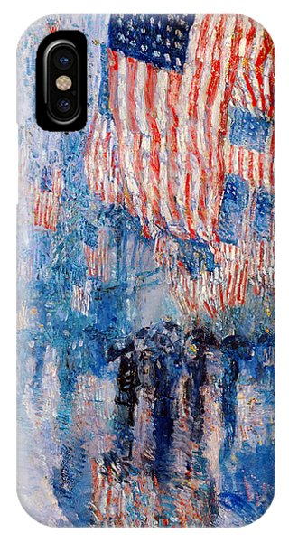 The iPhone Case - The Avenue In The Rain by Frederick Childe Hassam
