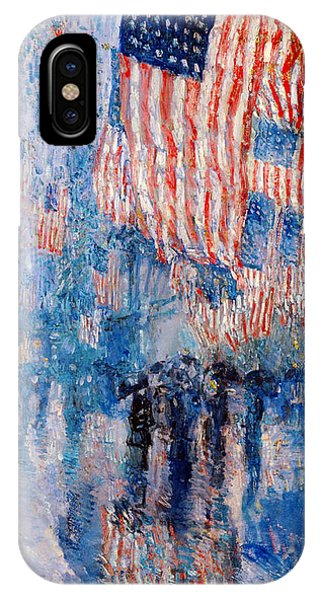 The Avenue In The Rain IPhone Case