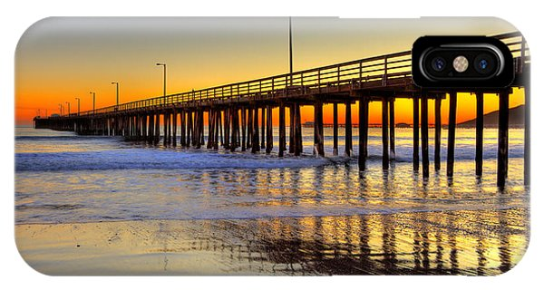 The Avila Beach Pier At Sunset IPhone Case
