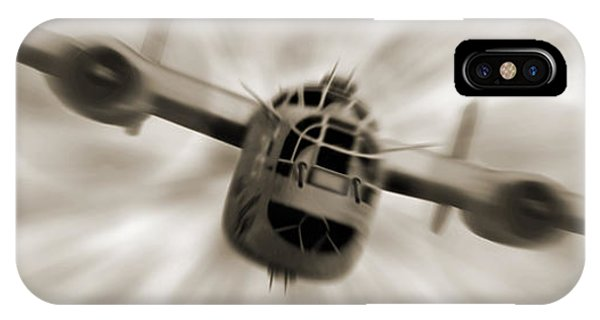 Bomber iPhone Case - The B - 24 Liberator Panoramic  by Mike McGlothlen