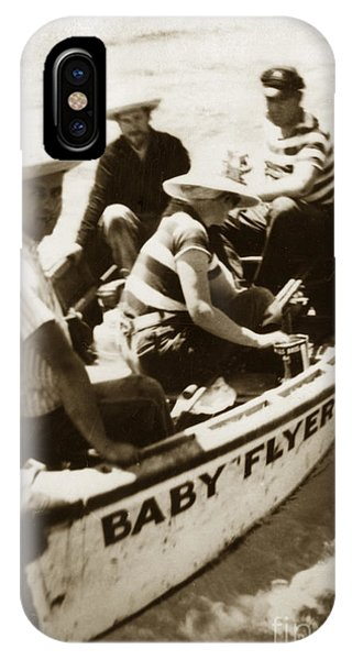 The Baby Flyer With Ed Ricketts And John Steinbeck  In Sea Of Cortez  1940 IPhone Case