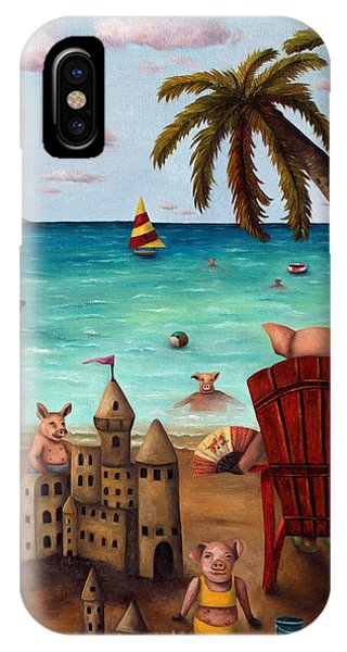 Jet Ski iPhone Case - The Bacon Shortage Brighter by Leah Saulnier The Painting Maniac