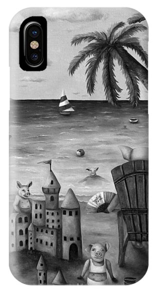 Jet Ski iPhone Case - The Bacon Shortage In Bw by Leah Saulnier The Painting Maniac