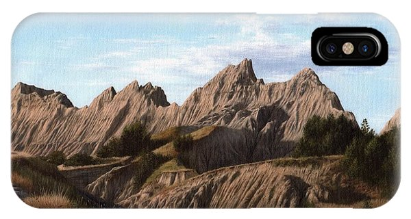 The Badlands In South Dakota Oil Painting IPhone Case