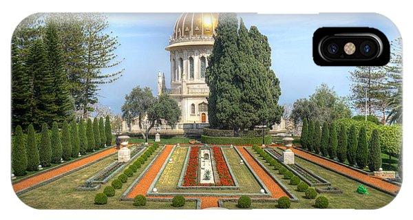 The Bahai Gardens IPhone Case