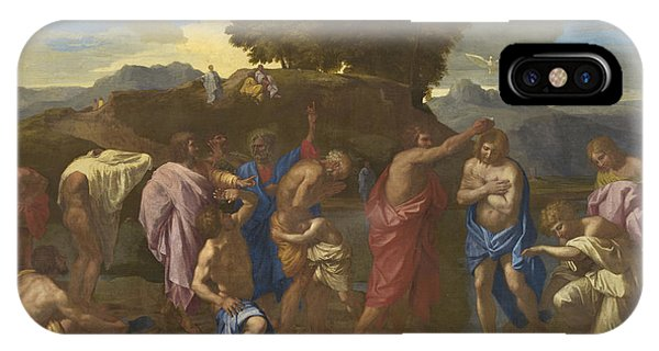 Staff iPhone Case - The Baptism Of Christ by Nicolas Poussin