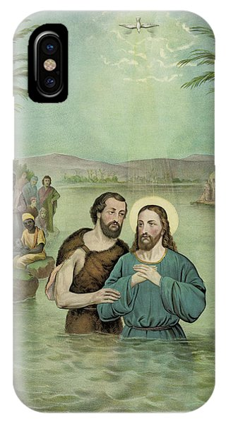 Representation iPhone Case - The Baptism Of Jesus Christ Circa 1893 by Aged Pixel