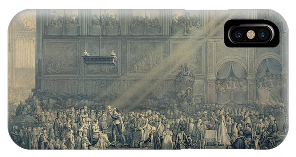 The Baptism Of The King Of Rome 1811-32 At Notre-dame, 10th June 1811, After 1811 Engraving IPhone Case