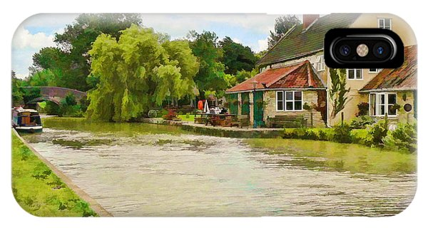 The Barge Inn Seend IPhone Case