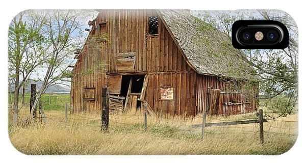 IPhone Case featuring the photograph the Barn  by Fran Riley