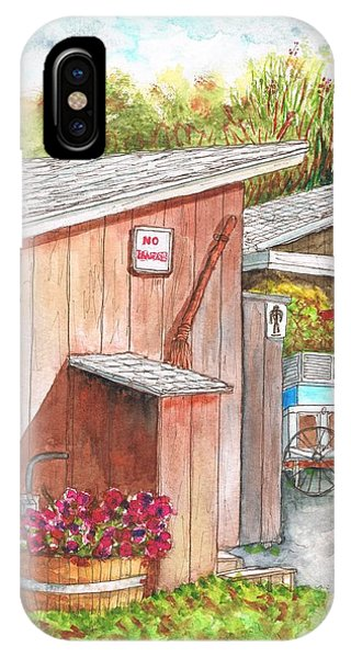 The Barn Outhouse In Avila Beach - California IPhone Case