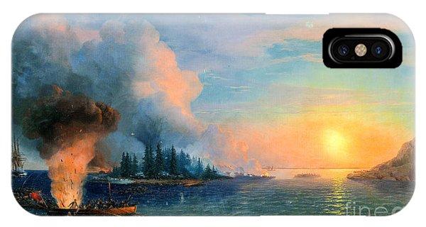 iPhone Case - The Battle Of Bomarsund. 1858  by Viktor Birkus