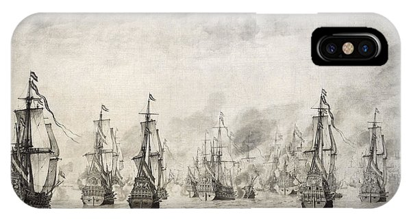 Navigation iPhone Case - The Battle Of Dunkirk, 1659, By Willem Van De Velde I1611-1693 by Bridgeman Images