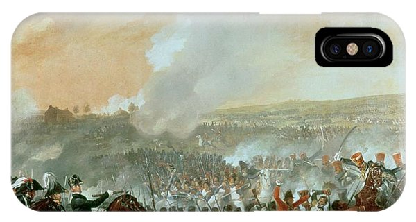 Struggle iPhone Case - The Battle Of Waterloo, 18th June 1815 Oil On Canvas Detail Of 209202 by Denis Dighton