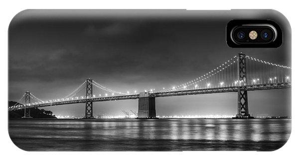 San Francisco iPhone Case - The Bay Bridge Monochrome by Scott Norris