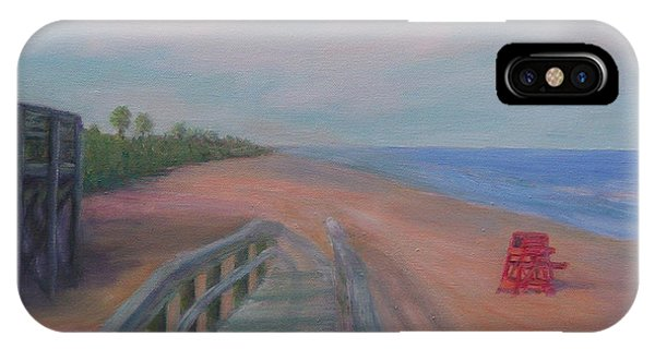 The Beach At Flagler Beach IPhone Case