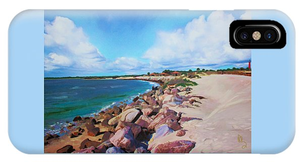 IPhone Case featuring the painting The Beach At Ponce Inlet by Deborah Boyd