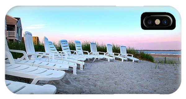 Orchard Beach iPhone Case - The Beach Chairs by Betsy Knapp
