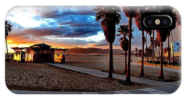 IPhone Case featuring the digital art The Beach by Visual Artist Frank Bonilla