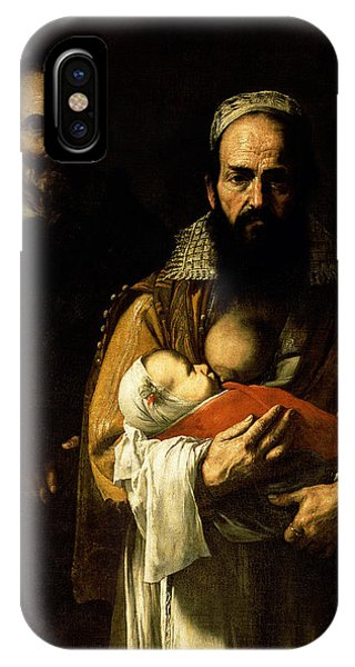 The Bearded Woman Breastfeeding, 1631 IPhone Case