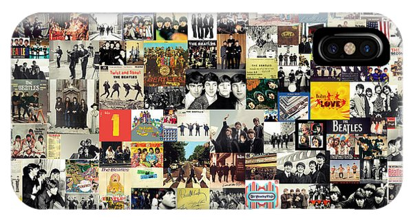 Rock And Roll iPhone Case - The Beatles Collage by Zapista