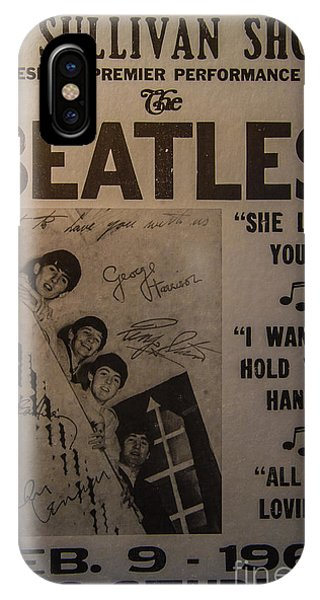 Harrison iPhone Case - The Beatles Ed Sullivan Show Poster by Mitch Shindelbower