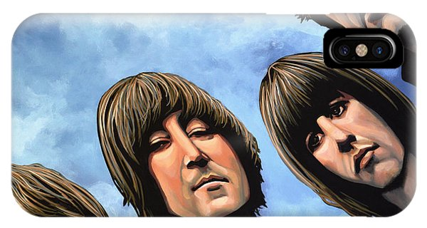 Rock And Roll Art iPhone Case - The Beatles Rubber Soul by Paul Meijering