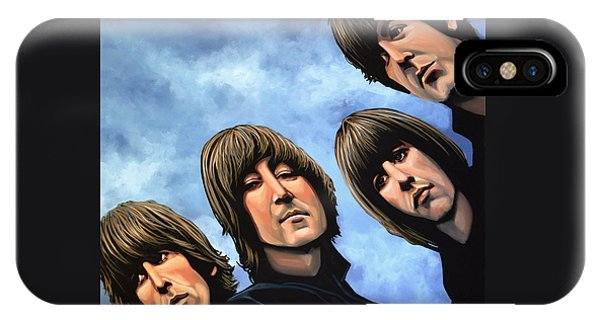 Rock And Roll iPhone Case - The Beatles Rubber Soul by Paul Meijering