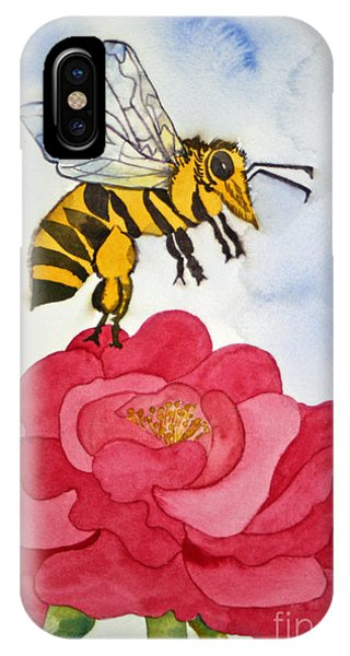 The Bee And The Rose IPhone Case