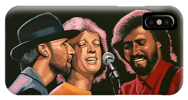 Trio iPhone Case - The Bee Gees by Paul Meijering