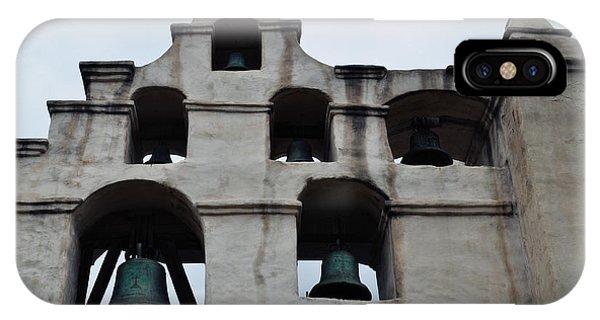 San Gabriel Mission iPhone Case - The Bells Of Mission San Gabriel Arcangel by Kyle Hanson