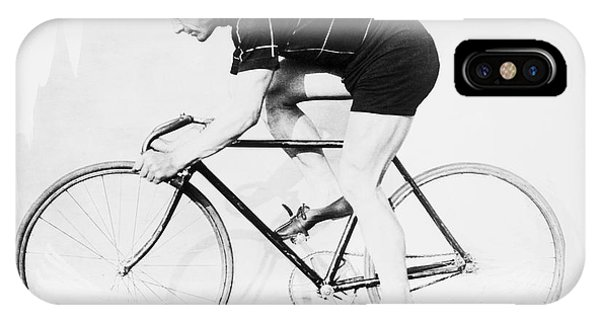 Bicycle iPhone X Case - The Bicyclist - 1914 by Daniel Hagerman