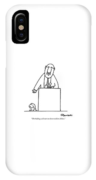 iPhone Case - The Bidding Will Start At Eleven Million Dollars by Charles Barsotti