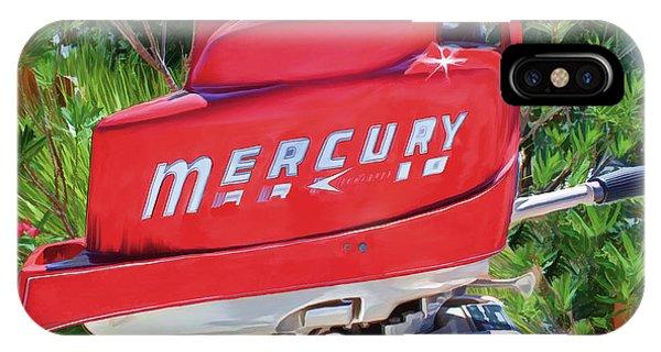 The Big Red Mercury Engine IPhone Case