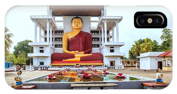 Tropes iPhone Case - The Big Sitting Buddha In Matara On The Tropical Island Of Sri Lanka by Gina Koch