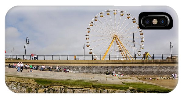 Funfair iPhone Case - The Big Wheel And Promenade, Tramore by Panoramic Images