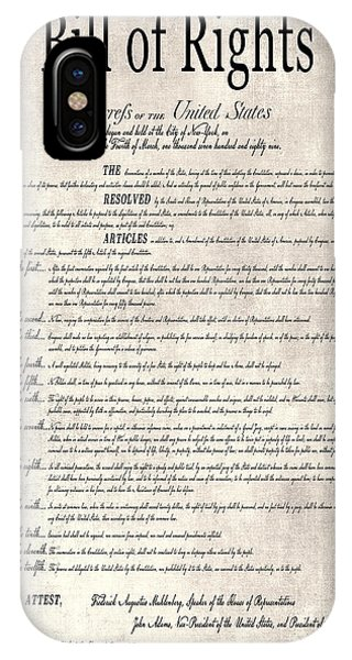Equal Rights iPhone Case - The Bill Of Rights Parchment by Daniel Hagerman