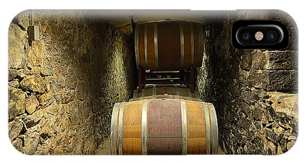 The Biltmore Estate Wine Barrels IPhone Case